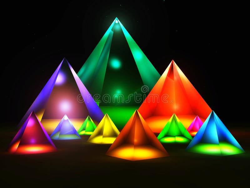 Pirâmide ilustração stock