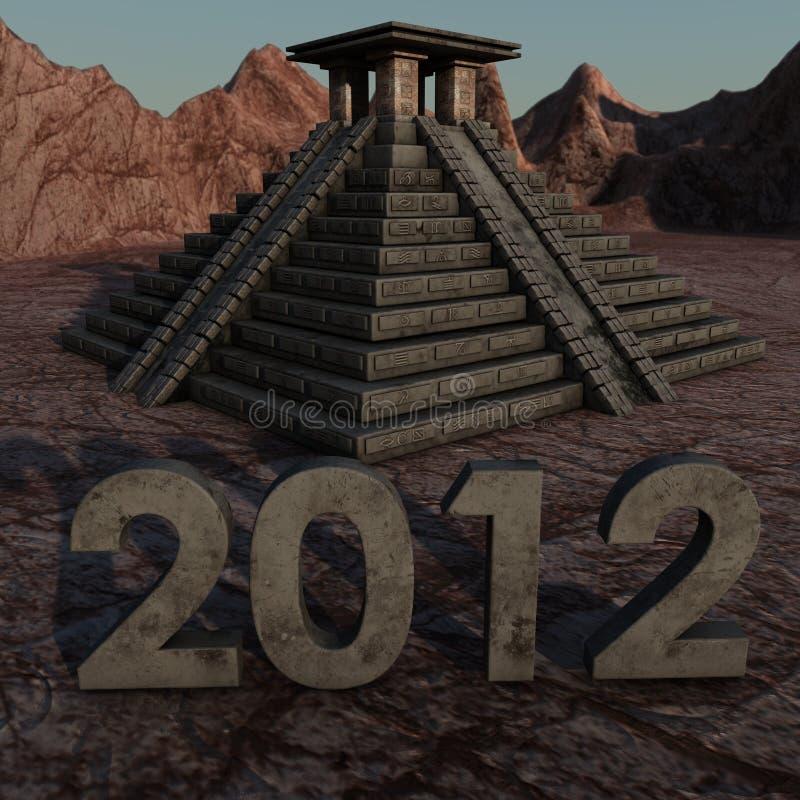 pirâmide 2012 maia ilustração stock