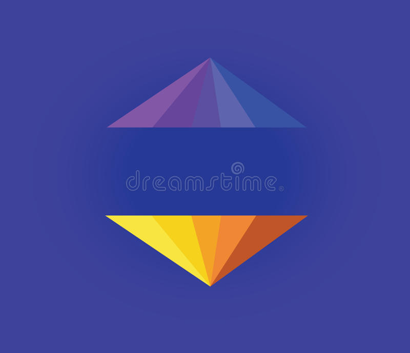 Pirâmide abstrata da cor ilustração do vetor
