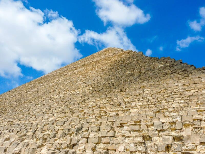 Pirâmide alta em Egito imagens de stock