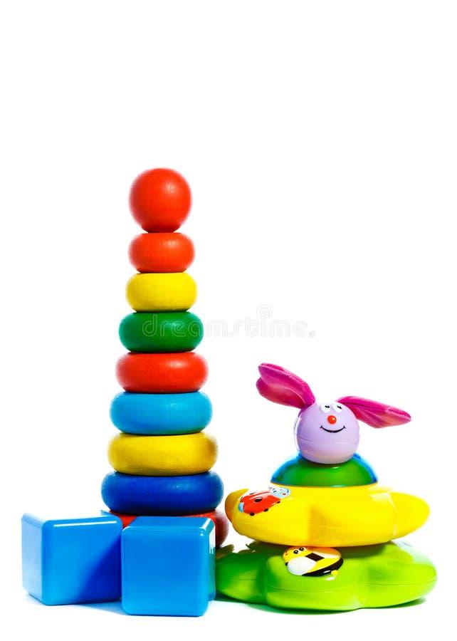 Pirâmide colorida da criança imagem de stock