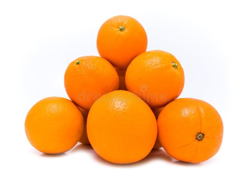Pirâmide com laranja imagem de stock
