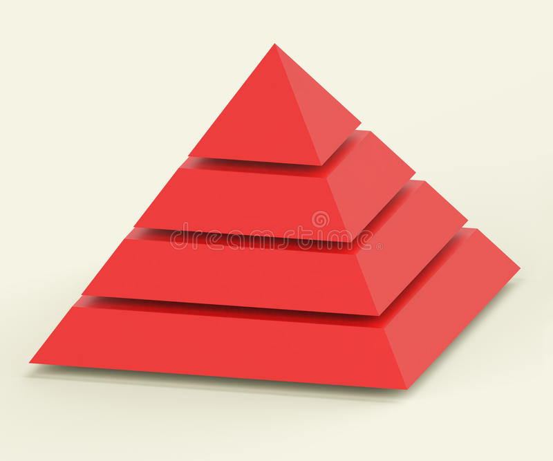 Pirâmide com segmentos ilustração royalty free
