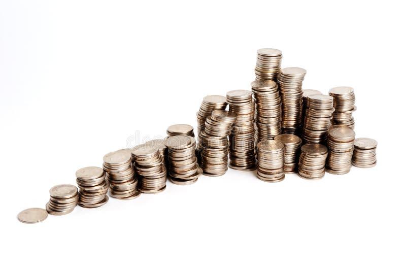 Pirâmide crescente das moedas imagem de stock royalty free