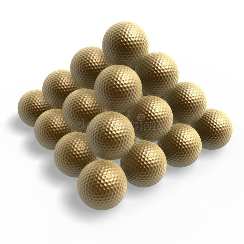 Pirâmide da esfera de golfe fotografia de stock