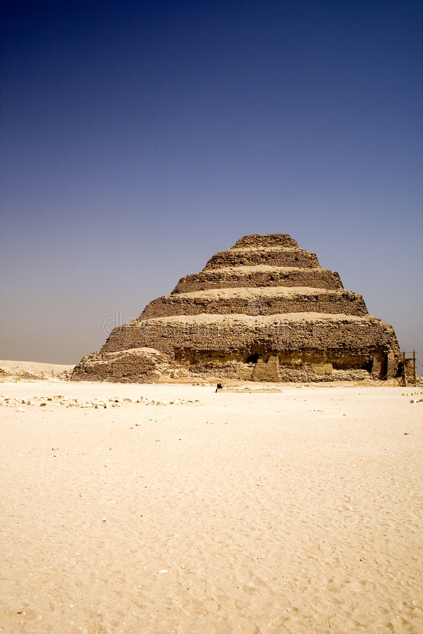 A pirâmide da etapa de Djoser fotografia de stock