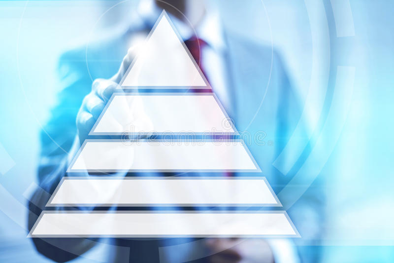 Pirâmide da hierarquia ilustração stock