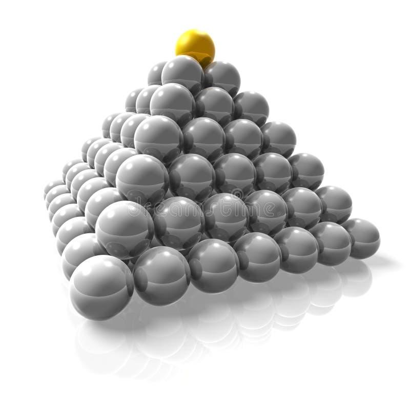 Pirâmide da potência ilustração royalty free