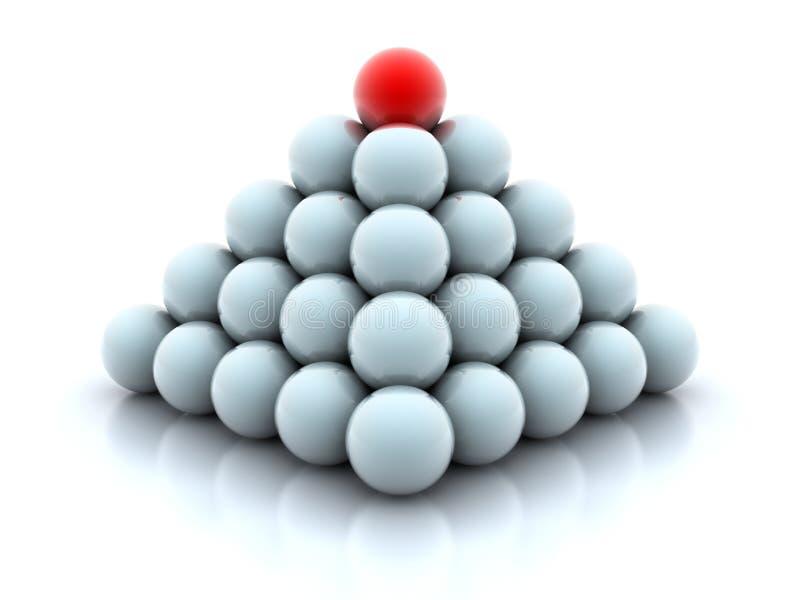 Pirâmide das esferas ilustração stock