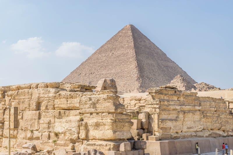 A pirâmide de Cheops, platô de Giza fotos de stock