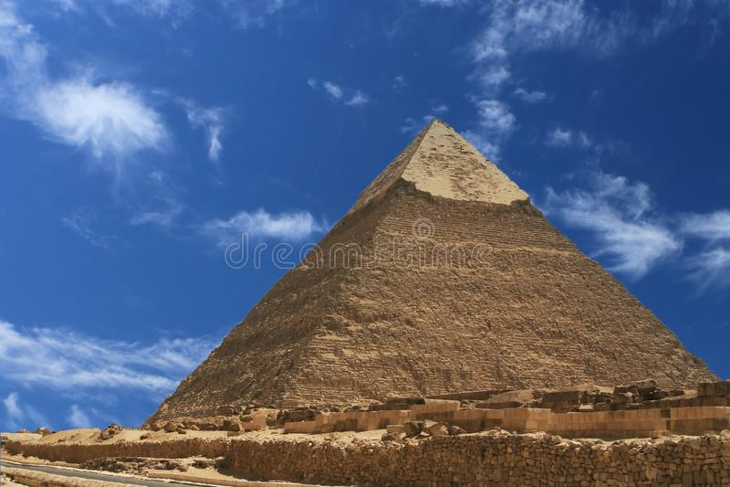 Pirâmide de Egipto fotografia de stock