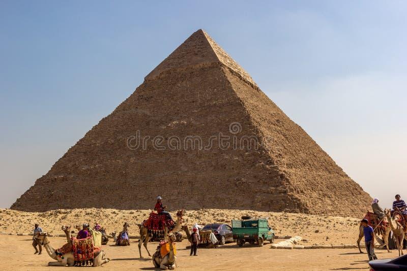 Pirâmide de Kefren fotos de stock royalty free