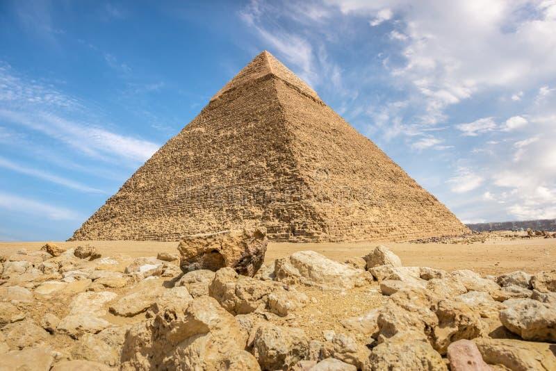 Pirâmide de Khafre e de pedras fotografia de stock royalty free