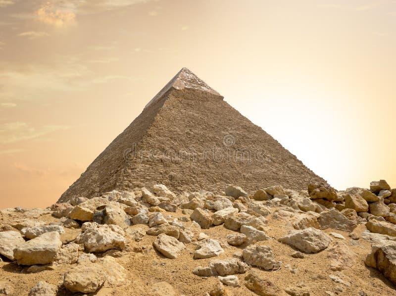 Pirâmide de Khafre em Egito foto de stock