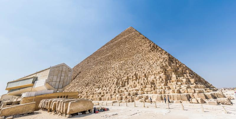 A pirâmide de Khufu em Egito fotografia de stock