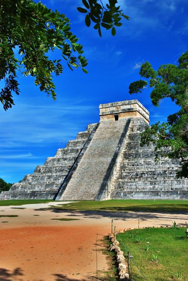 Pirâmide de Kukulcan, Chichen Itza, México imagens de stock royalty free