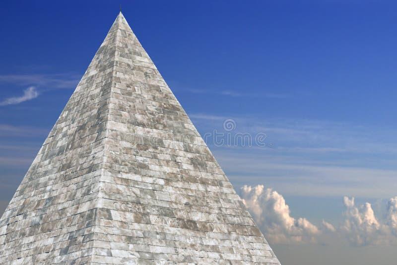 Pirâmide de Piramide Cestia de Cestius, Roma, Itália, imagens de stock royalty free