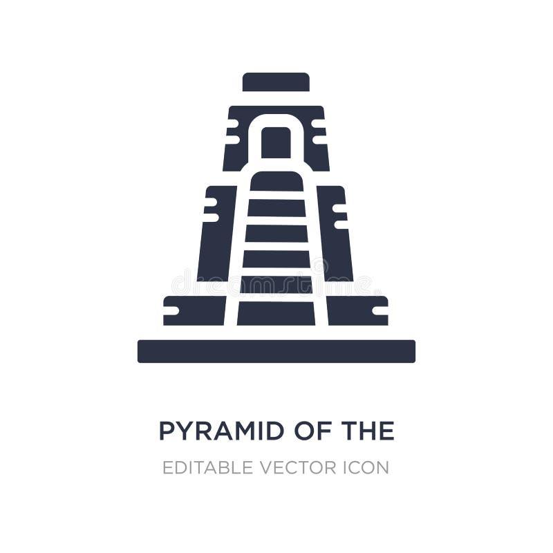 pirâmide do ícone do mágico no fundo branco Ilustração simples do elemento do conceito dos monumentos ilustração royalty free