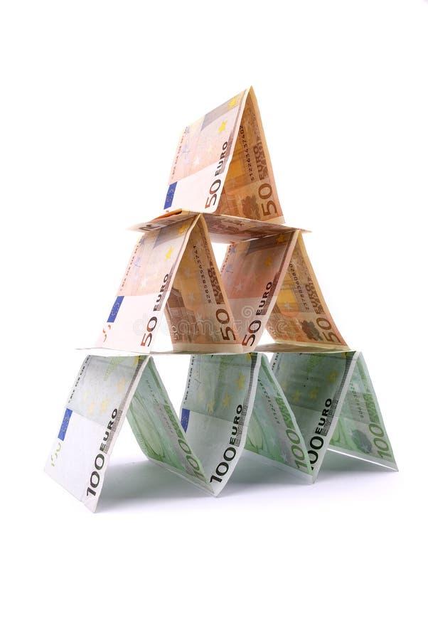 Pirâmide do dinheiro fotos de stock