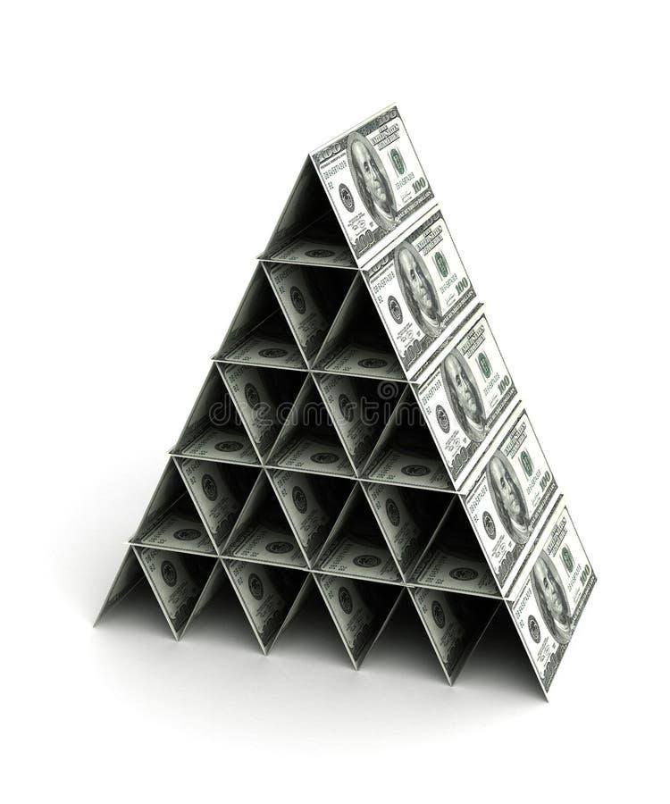 Pirâmide do dinheiro ilustração do vetor
