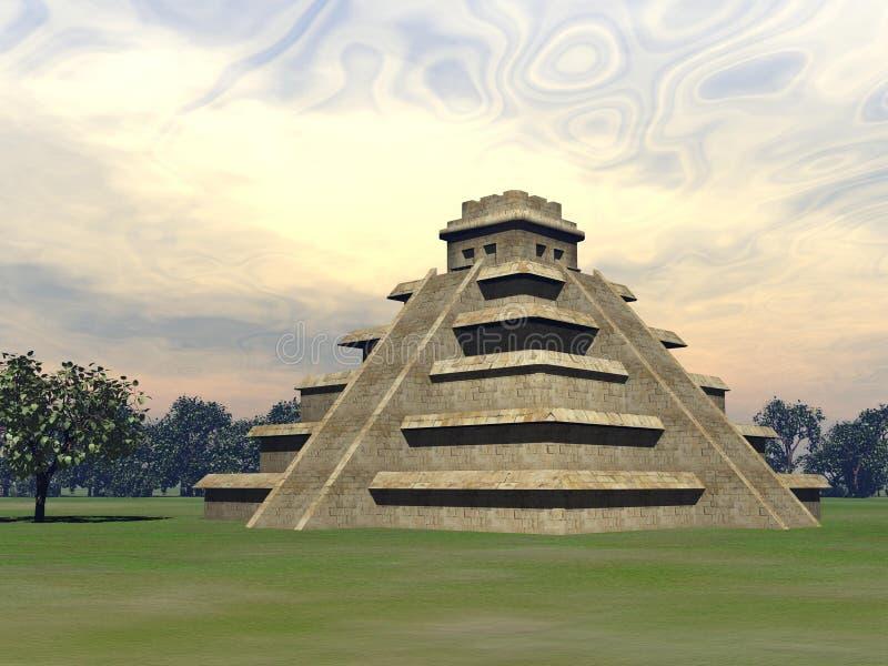 Pirâmide do Maya - 3D rendem ilustração royalty free