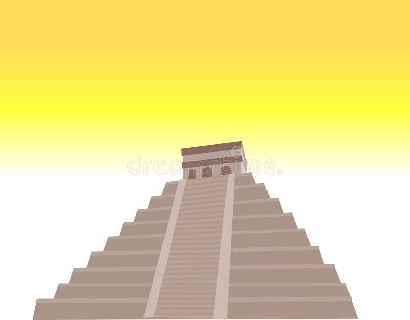 Pirâmide do Maya ilustração stock