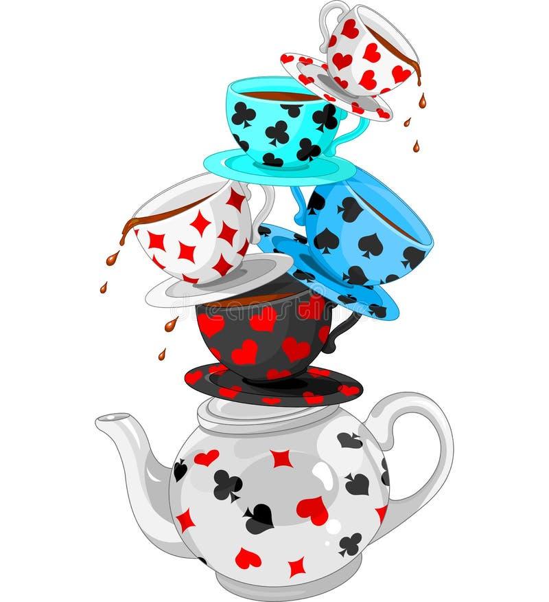 Pirâmide do tea party da maravilha ilustração royalty free