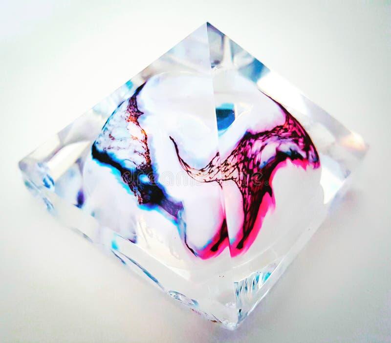 Pirâmide do vidro da arte fotografia de stock