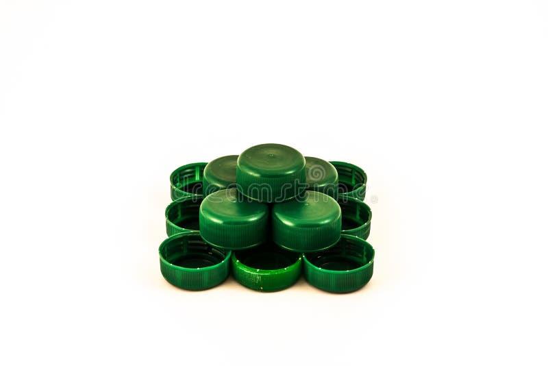 Pirâmide dos tampões de garrafa imagem de stock