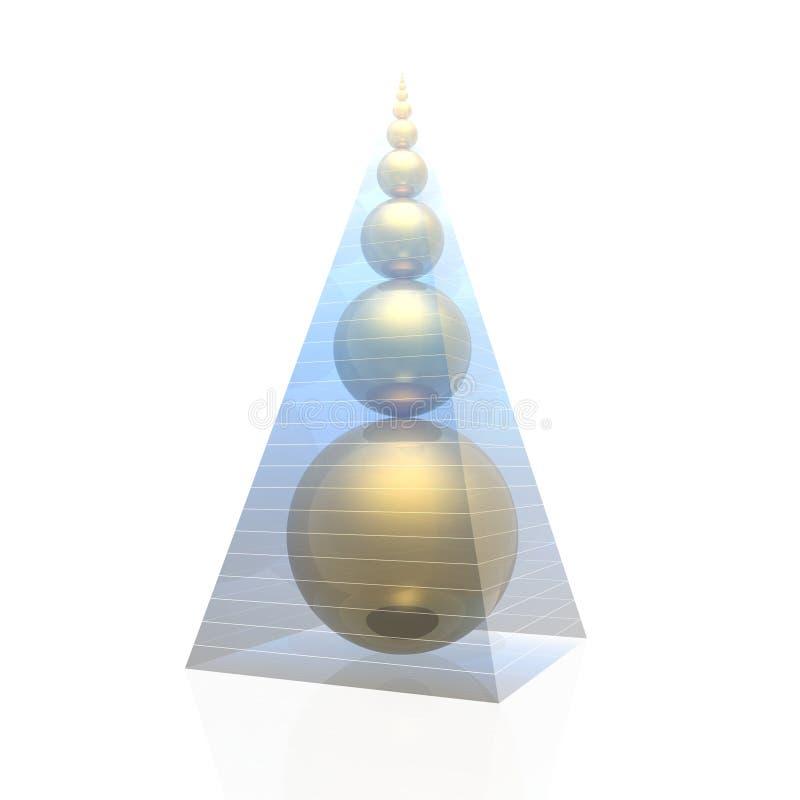 Pirâmide dourada ilustração royalty free