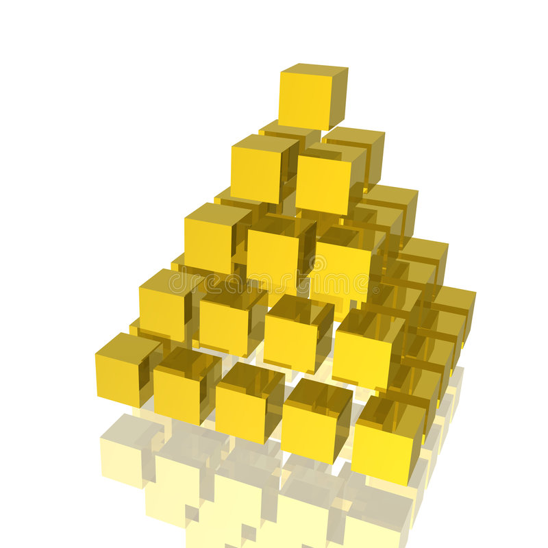 Pirâmide dourada ilustração stock