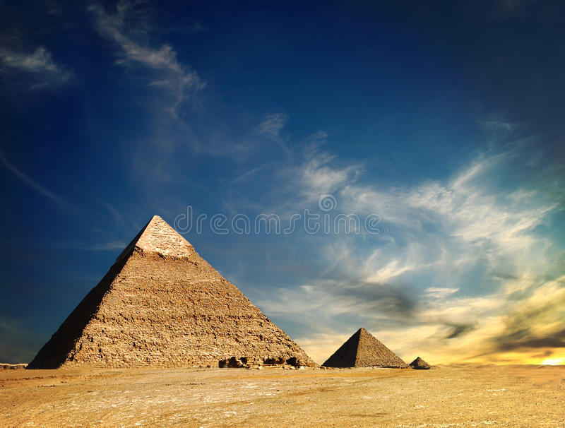 Pirâmide egípcia imagem de stock royalty free