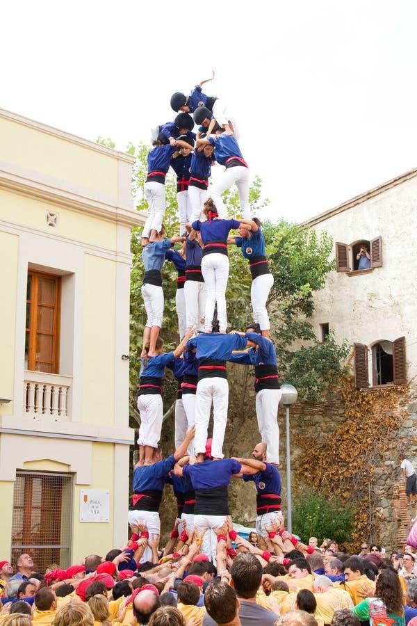 Pirâmide humana imagem de stock royalty free