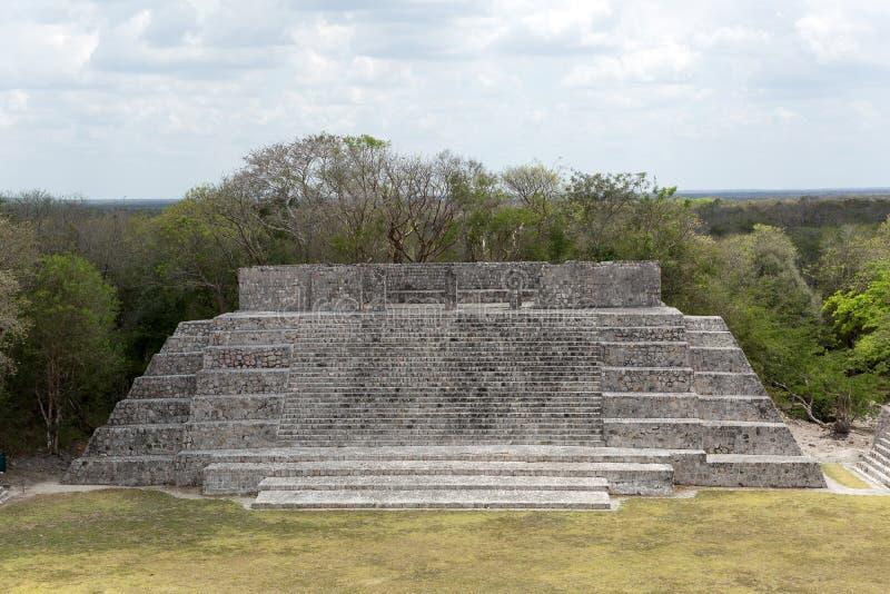 pirâmide maia da Liso-parte superior fotos de stock royalty free