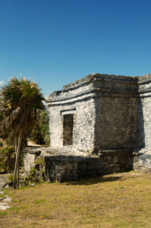 Pirâmide maia, Tulum, México fotos de stock