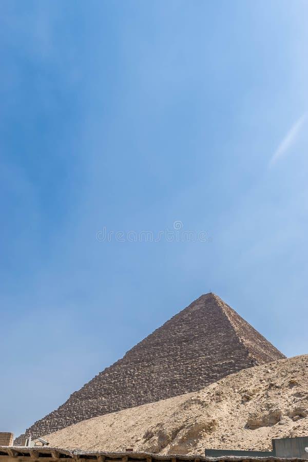 A pirâmide a maior de Egito antigo fotografia de stock royalty free