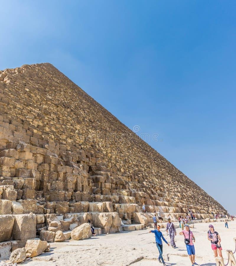 A pirâmide a maior do mundo em Giza foto de stock royalty free