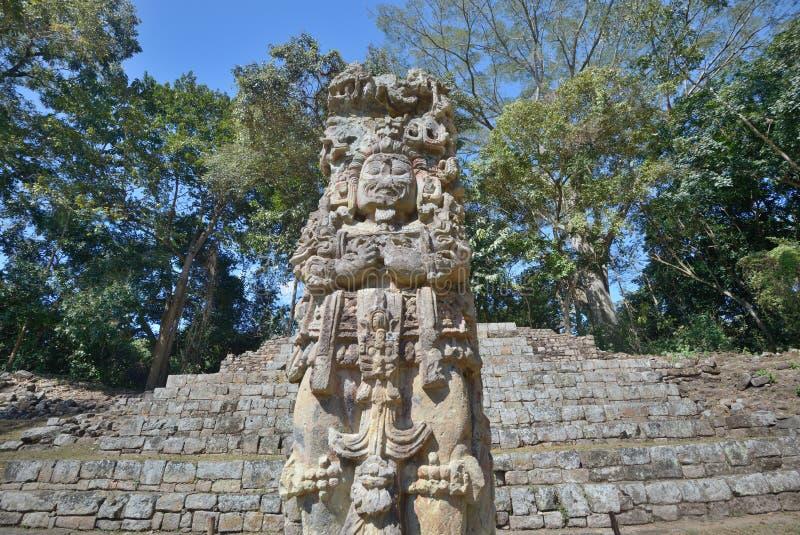 Pirâmide na cidade maia antiga de Copan nas Honduras. foto de stock