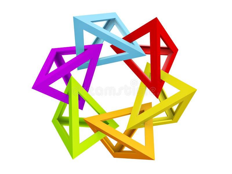Pirâmide oca do triângulo ilustração do vetor