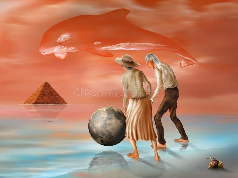 Pirâmide perdida ilustração royalty free