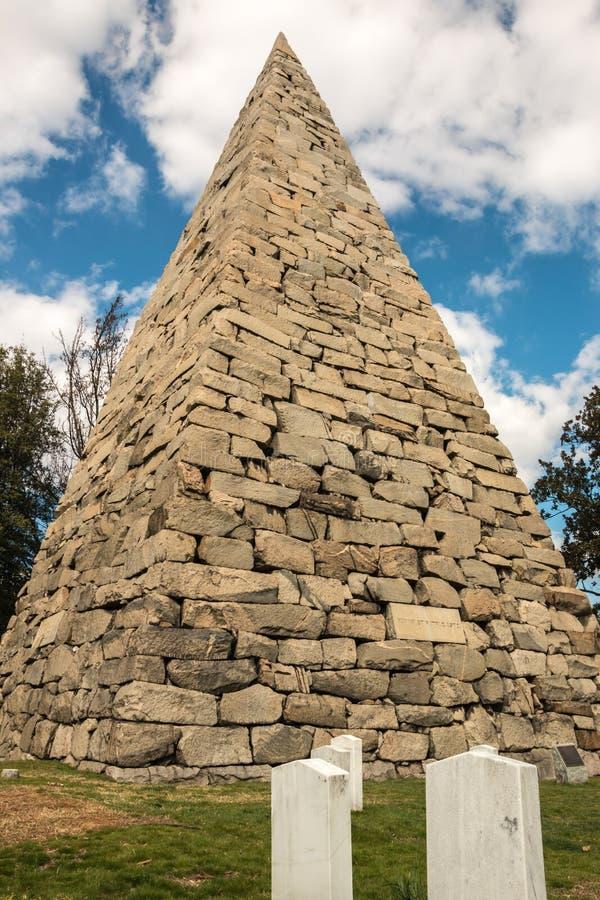 Pirâmide Richmond do cemitério de Hollywood fotografia de stock