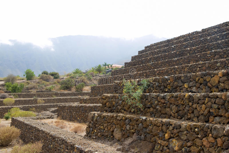 Pirâmides 3 de Guimar imagens de stock