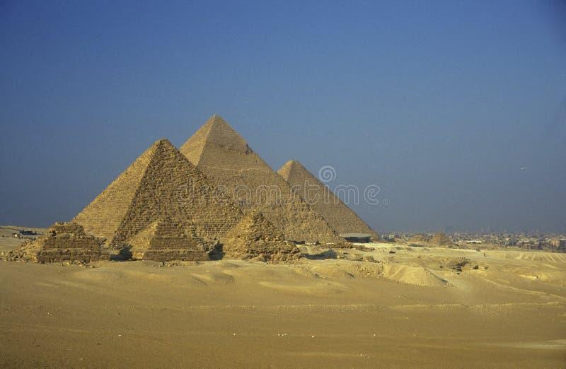 PIRÂMIDES DE ÁFRICA EGIPTO O CAIRO GIZA fotografia de stock