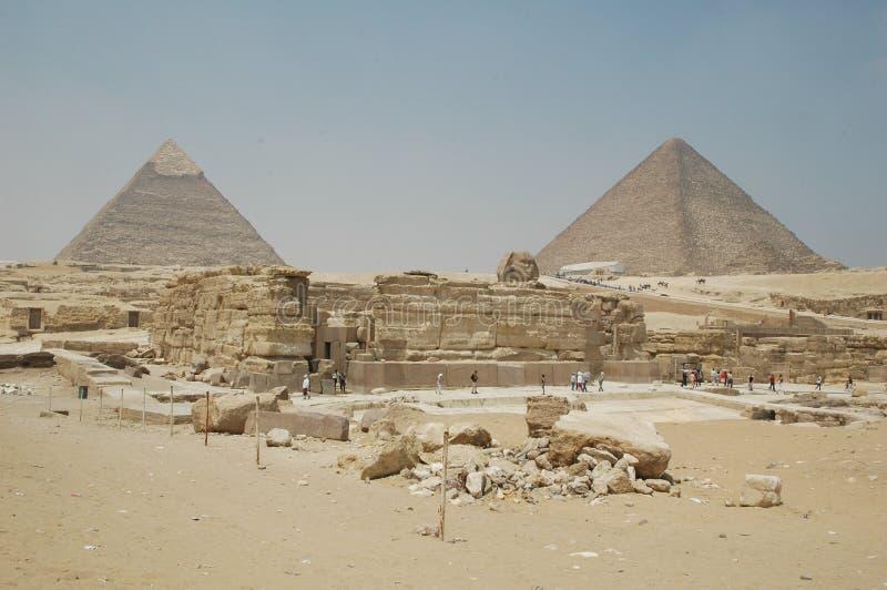 Pirâmides de Giza e de Cheops em Egito foto de stock