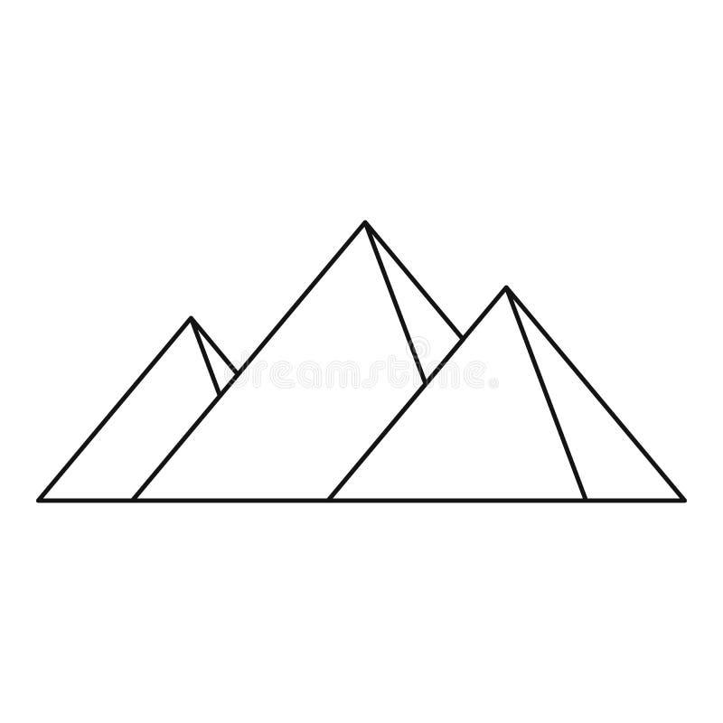 Pirâmides do ícone de Egito, estilo simples ilustração do vetor