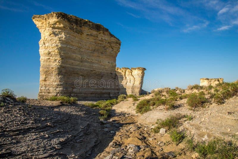 Pirâmides do giz da rocha do monumento imagem de stock royalty free
