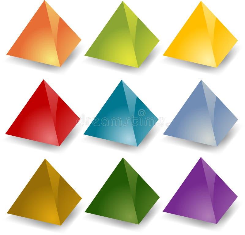 Pirâmides em branco ilustração do vetor
