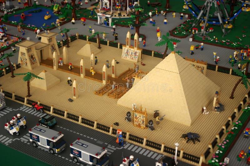 Pirâmides Lego fotografia de stock