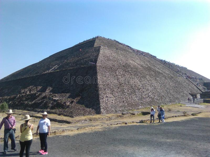 Pirà ¡ mides De Teotihuacan zdjęcie royalty free