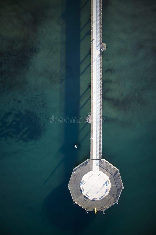 Pir av Marina di Pietrasanta royaltyfri foto